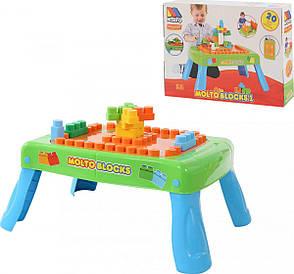 Ігровий набір столик з конструктором (20 ел. ) Полісся (57990), фото 2