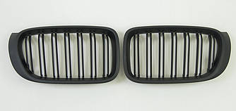 Решетка радиатора ноздри BMW X3 F25 рестайл 14-17 стиль M (черный мат)
