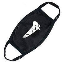 Многоразовая маска Зубки (9259-1409) тканевая для детей и взрослых защитная