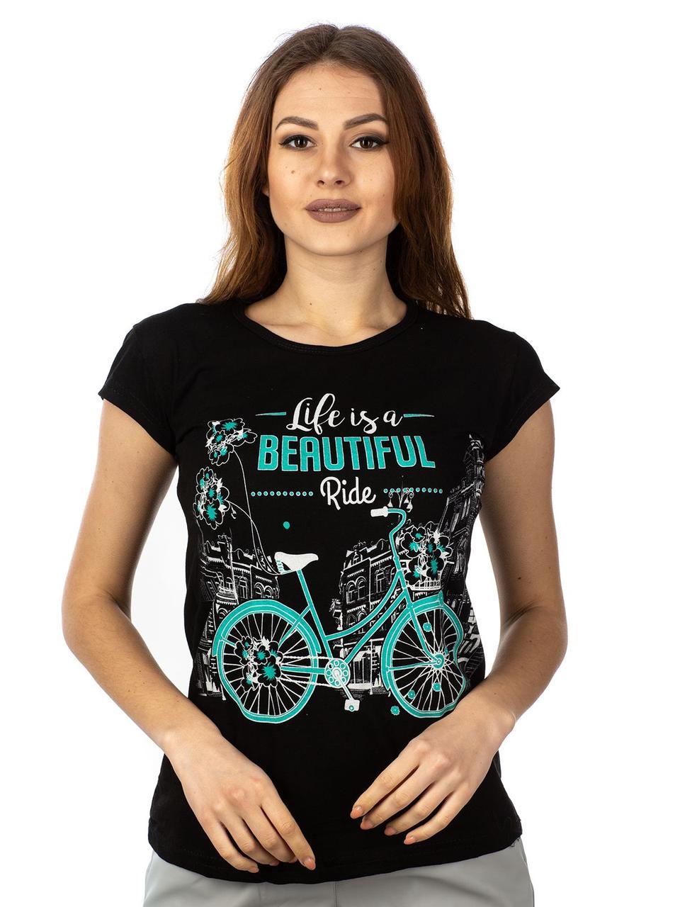 Женская футболка Life is a BEAUTIFUL