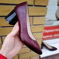 Туфли лодочки бордовые