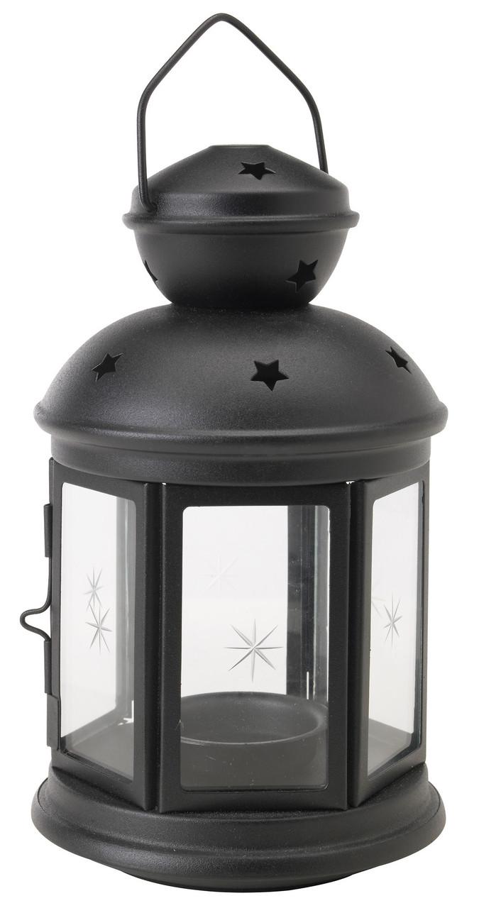 Декоративный фонарь черный