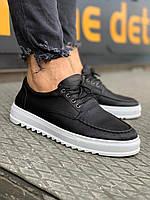 Кеды мужские кожаные Zipp 2.0 x black / весенние осенние ЛЮКС, фото 1