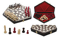 Шахматы деревянные на троих играков