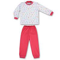 Детская пижама с манжетами на штанах, на рост - 80, 92, 104, 110, 116, 122 см. (арт: 9-34_1)