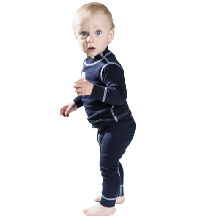 Термолеггинсы детские NORVEG Soft Merino Wool (размер 56-62, синий)