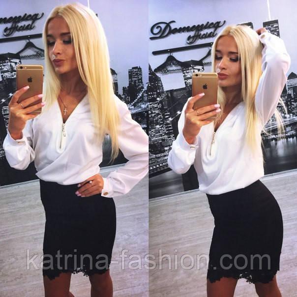 Женский красивый костюм: блуза и юбка