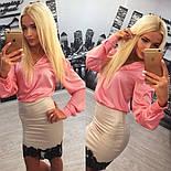 Женский красивый костюм: блуза и юбка (расцветки), фото 6