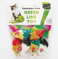 Petimpex (Петимпекс) Мышь цветная с перьями игрушка для кошек 1 шт.