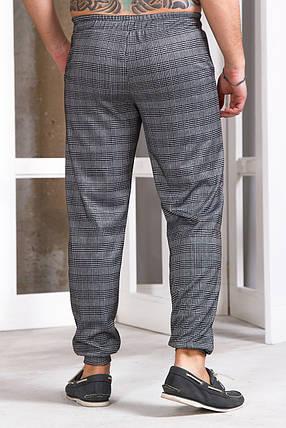 Мужские спортивные штаны 740 с манжетом серые, фото 2