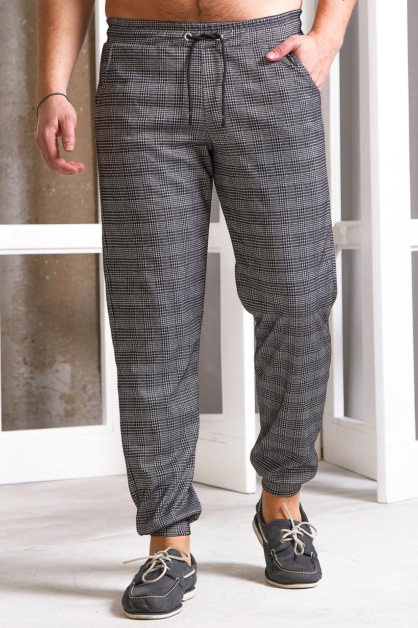 Мужские спортивные штаны 740 с манжетом серые