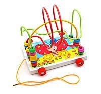 Деревянная игрушка Каталка MD 0320 (Бабочка)