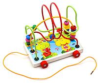 Деревянная игрушка Каталка MD 0320 (Лягушка)