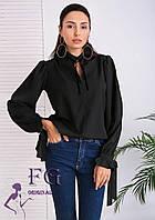 Стильная блуза с длинными рукавами 012В/02, фото 1