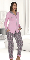 Жіноча котонова піжама на ґудзиках Le'Maries