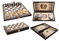 Набор шахматы с нардами деревянный