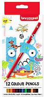 Набор детских цветных карандашей, 12цв., карт. коробка, Bruynzeel