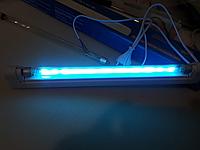 Облучатель Бактерицидная лампа кварцевая (без озона) ДРБ8-1 8w T5 + светильник до 15 м.кв.