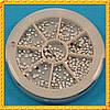 Набор Камней в карусели Стразы Серебряные Мелкие