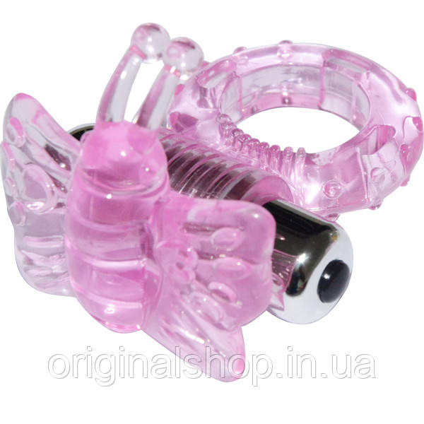 Эрекционное кольцо розовоем ногофункциональное