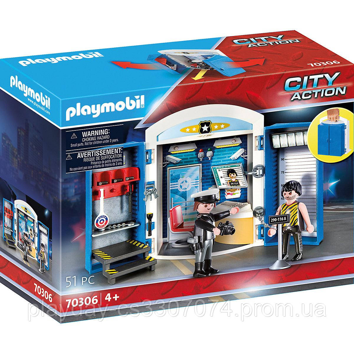 """Конструктор Playmobil city action игровой набор """"полицейский участок"""""""