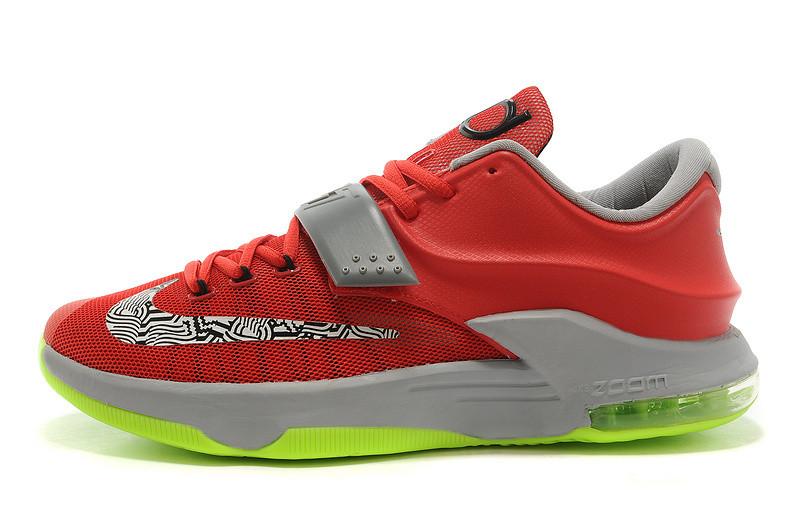 9d34b3b4 Мужские баскетбольные кроссовки Nike KD 7 красно-салатовые - SHOES-INTIME в  Харькове