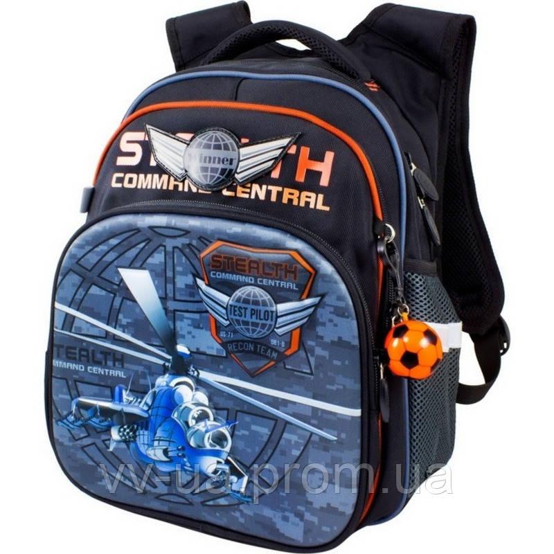 Рюкзак школьный 3D Winner-Stil, для мальчиков, черный (8016)