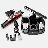 Качественная машинка для стрижки волос Gemei, 10 насадок в комплекте