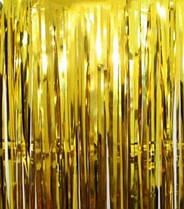 Шторка завісу з фольги для фото зон золота 1х2 метри