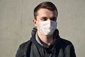Маска для лица защитная тканевая MHZ уплотненная Белый (iz12122)