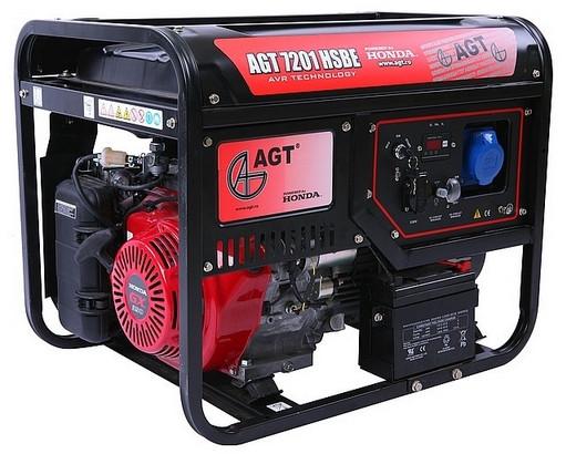 Однофазний бензиновий генератор AGT 7201 HSBE TTL (6.0 кВт)
