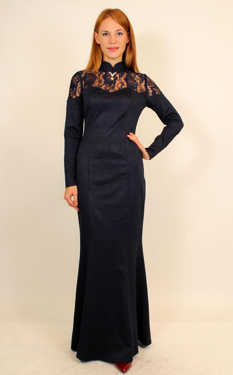 Длинное вечернее платье годе 44-50 р