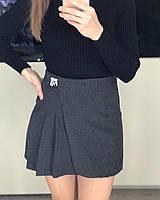 Женская короткая теплая юбка WaNg