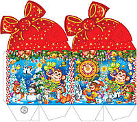 """Новогодняя упаковка """"Бант подарок от мартышки 700г.""""скидка только для оптовиков"""