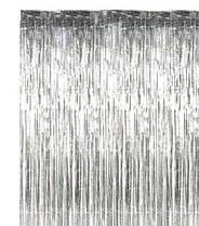 Шторка завісу з фольги для фото зон срібло 1х2 метри