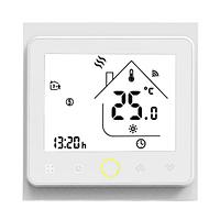 Wi-Fi термостат для газового котла 220В 3А BHT-002-GCLW терморегулятор, белый