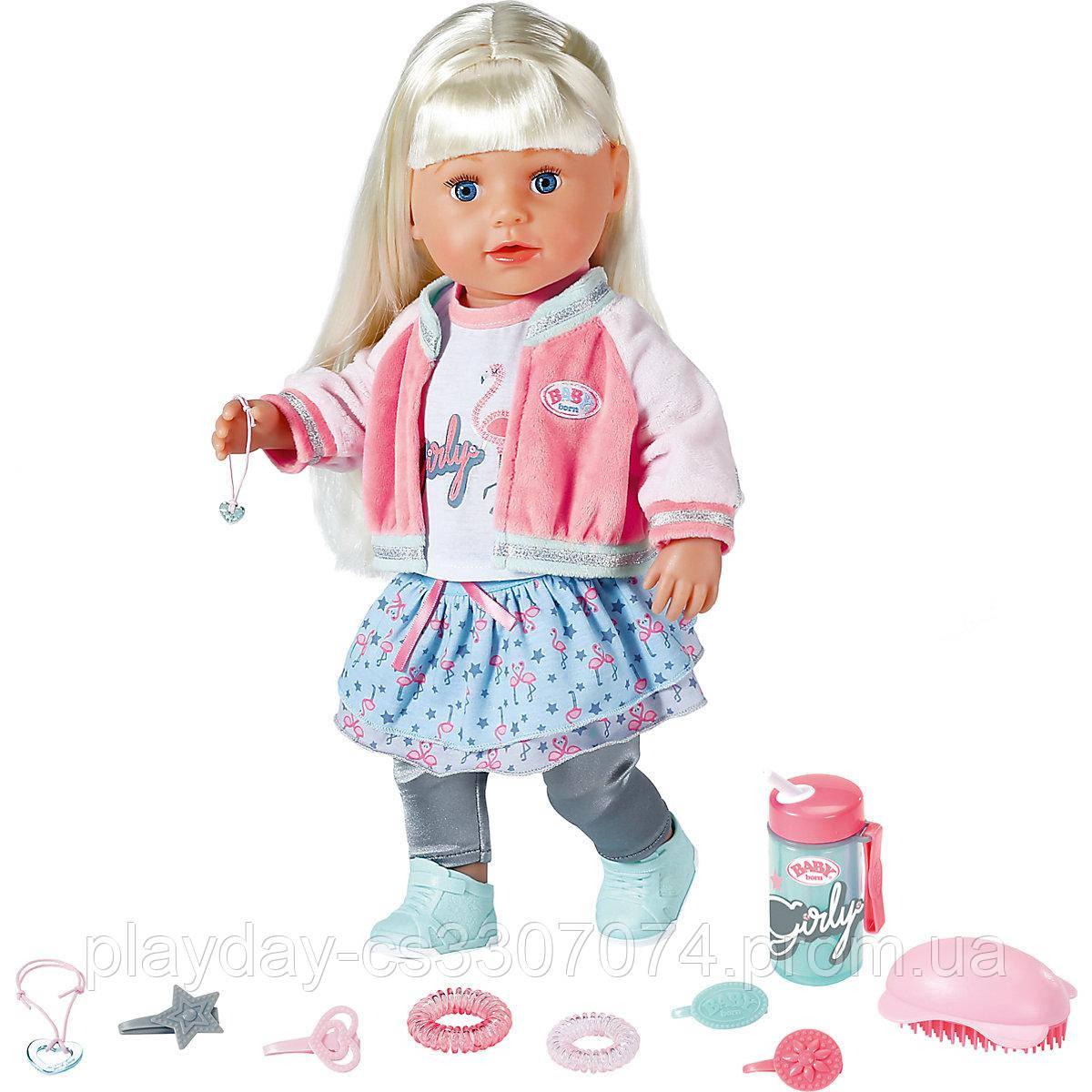Кукла Baby Born Soft Touch Sister Cестричка Baby Born блондинка 43 см Exclusive Zapf Creation