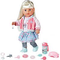 Кукла Baby Born Soft Touch Sister Cестричка Baby Born блондинка 43 см Exclusive Zapf Creation, фото 1
