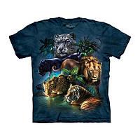 3D футболка мужская The Mountain р.M 48-50 RU футболки с 3д принтом рисунком - Хищники Джунглей