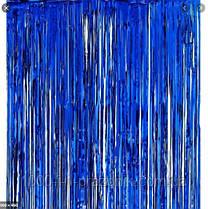 Шторка завісу з фольги для фото зон синій 1х2 метри
