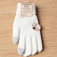 Вязанные перчатки для сенсорных экранов iTouch Белый