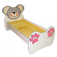 """Кровать детская одноместная """"Мышонок"""" со съемными перилами, 1436х770х820 мм."""