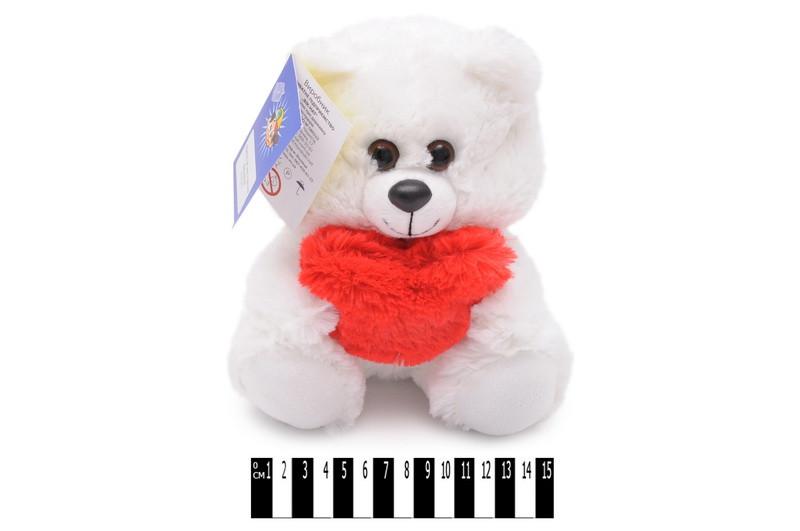 """Іграшка мяка """"Ведмедик з серцем"""", білий, Мягкая игрушка """"Мишка с сердцем"""" В060/1"""