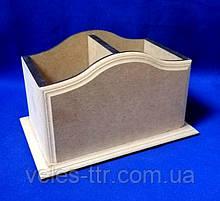Подставка Фигурная 2 для карандашей и ручек 18х11,5х11 см МДФ заготовка для декора 1