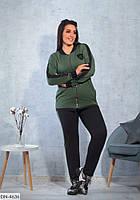 Удобный женский спортивный костюм на молнии размеры 48-54 арт 357