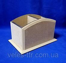 Подставка Фигурная 3 для карандашей и ручек 18х11,5х11 см МДФ заготовка для декора 1