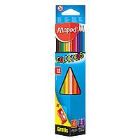 Карандаши цветные Maped COLOR PEPS Classic 12 цв с точилкой (MP.183213)