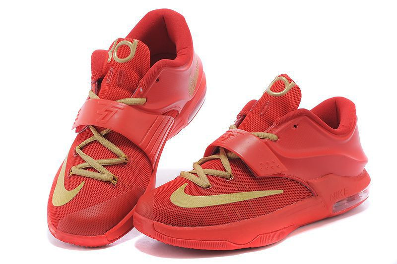 dfa4db9b Мужские баскетбольные кроссовки Nike KD 7 красно-золотые - SHOES-INTIME в  Харькове