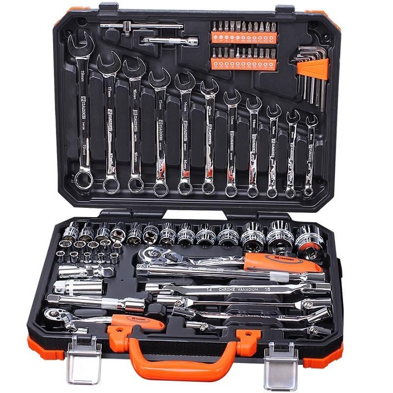 """Універсальний набір інструменту 77 предметів 1/2"""" і 1/4"""" Harden Tools 510677"""