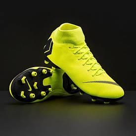 Футбольные бутсы с носком Nike Superfly Academy FG/MG салатовые AH7362-701 (оригинал)